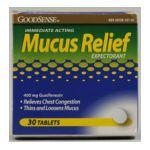 Good Sense -  Mucus Relief, 30 tablet,1 count 0846036001761