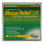Good Sense -  Mucus Relief Dm 30 tablet 0846036001778