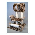 Go Pet Club -  28'' Cat Tree In Leopard Print Faux Fur 0852134002210