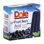 Dole - Fruit Bars Acai-blueberry 0860510000057  / UPC 860510000057
