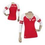 Adidas  - Reebok Detroit Red Wings Womens 3/4 Sleeve Rib Henley 0885580587567  / UPC 885580587567