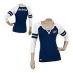 Adidas  - Reebok Columbus Blue Jackets Womens 3/4 Sleeve Rib Henley 0885580658588  / UPC 885580658588