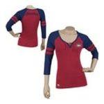 Adidas  - Reebok Montreal Canadiens Womens 3/4 Sleeve Rib Henley 0885580658823  / UPC 885580658823