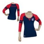 Adidas  - Reebok New York Rangers Womens 3/4 Sleeve Rib Henley 0885580658960  / UPC 885580658960