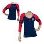 Adidas  - Reebok New York Rangers Womens 3/4 Sleeve Rib Henley 0885580658977  / UPC 885580658977