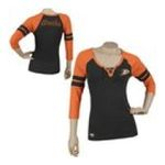 Adidas  - Reebok Anaheim Ducks Womens 3/4 Sleeve Rib Henley 0885580659493  / UPC 885580659493
