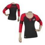 Adidas  -   None Reebok Carolina Hurricanes Womens 3/4 Sleeve Rib Henley 0885580659615 UPC 88558065961