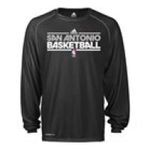 Adidas  - adidas San Antonio Spurs Heathered ClimaLite Long Sleeve T-Shirt 0885587012178  / UPC 885587012178