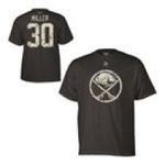 Adidas  - Reebok Buffalo Sabres Ryan Miller Digital Camo Name and Number T-shirt 0885587614358  / UPC 885587614358