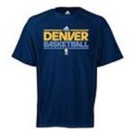 Adidas  -  adidas Denver Nuggets Heathered ClimaLite T-Shirt 0885587811986