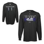 Adidas  - Reebok Los Angeles Kings Anze Kopitar Player Code Long Sleeve Name and Number T-shirt 0885587837405  / UPC 885587837405
