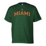 Adidas  - adidas Miami Hurricanes Mens T-Shirt 0885591158077  / UPC 885591158077