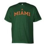 Adidas  -   None adidas Miami Hurricanes Mens T-Shirt 0885591158084 UPC 88559115808