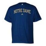 Adidas  - adidas Notre Dame Mens T-Shirt 0885591158565  / UPC 885591158565