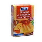 Alsa -  Gâteau de semoule de mon enfance nappé de caramel, 2 sachets de raisins 3011360005410