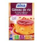 Alsa -  Gâteau de riz de mon enfance nappé de caramel, 2 sachets de raisins 3011360005427