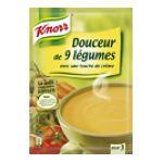Knorr - Soupes déshydratées - Soupe à cuire  douceur 9 legume creme trois assiettes sachet aluminium 3011360023995