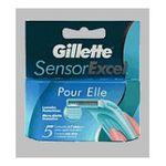 Gillette - lame sensorexcel elle distribuleur de 5  3014260225582