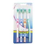 Oral-B - oral b brosse a dents classic care medium lot de 4  3014260746742