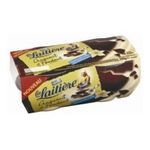La Laitière -  laitiere craquant et fondant creme dessert pot plastique vanille  4ct nappage chocolat craquant meuble refrigere  3023290633724