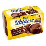 La Laitière - Petits pots crèmes coco x4   La Laitière   Petits Pots de Crème chocolat 13,40 %   Colis de 8 lots de 4 pots - Le pot de 100 g 3023292220014