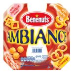 Benenuts - Ambiance - Snack goût  fromage, cacahuète, jambon fumé et tomates fines herbes 3025863355002