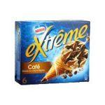 Extrême -  extreme glace individuelle boite carton cafe vanille feuillete  6ct sauce cafe et grain de cafe chocolate cone de creme glacee non enrobe meuble surg-1e 3033210003483