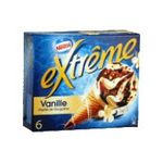 Extrême -  extreme glace individuelle boite carton vanille  6ct eclat de nougatine cone de creme glacee non enrobe meuble surgele  3033210003599