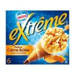 Extrême -  extreme glace individuelle boite carton creme brulee  6ct cone de creme glacee non enrobe meuble surgele  3033210813815