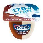 Danette -   danette creme dessert pot plastique chocolat au lait ou lait  6ct meuble refrigere  3033490143589