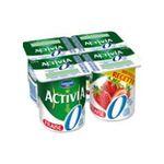Activia -  yaourt pot plastique fraise allege standard standard  4ct  3033490299224