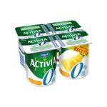Activia -  yaourt pot plastique ananas allege standard standard  4ct  3033490304126