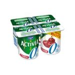 Activia -  yaourt pot plastique cerise allege standard standard  4ct  3033490315436