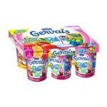 Gervais -   paille yaourt a boire pot plastique banane et fraise ou fruits rouges standard  6ct sans label lait entier fraise et banane ou fruits rouges vache yaour-t4 ,a72u%x  3033490322434