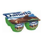 Danette -   creme dessert pot plastique chocolat et noisette  4ct meuble refrigere  3033490328252