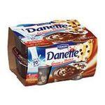 Danette -   crousti choco creme dessert pot bi-compartiment chocolat  4ct pepites de 3 chocolats meuble refrigere  3033490496036