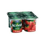 Activia -  yaourt pot plastique fraise standard standard  4ct  3033490594305