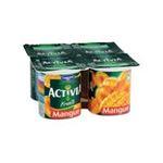 Activia -  yaourt pot plastique mangue standard standard  4ct  3033490594312