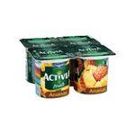 Activia -  yaourt pot plastique ananas standard standard  4ct  3033490594336