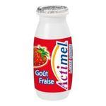 Actimel -   yaourt a boire bouteille plastique fraise casei  6ct sans label lait entier fraise vache yaourt aromatise  3033490689964