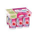 Actimel -   yaourt a boire bouteille plastique framboise casei  6ct sans label lait entier framboise vache yaourt aromatise  3033490690007