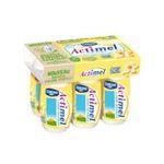 Actimel -  yaourt a boire bouteille plastique vanille casei  6ct sans label lait entier vanille vache yaourt aromatise  3033490690113