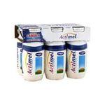 Actimel -   yaourt a boire bouteille plastique casei  6ct sans label lait entier nature vache yaourt nature  3033490690182