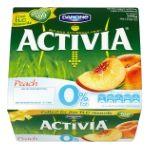 Activia - Bio 0% pêche brugnon x4 3033491117084