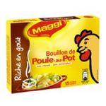 Maggi -  aide culinaire etui carton poule standard 15 tablettes poule au pot cube ou tablette bouillon  3033710082209