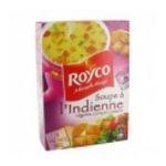 Royco -  minute soup les genereuses soupe instantanee sachet sous etui soupe de legume a l'indienne trois assiettes une assiette par sachet  3036810070077