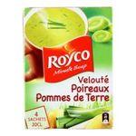 Royco -  minute soup classique soupe instantanee sachet sous etui veloute de poireau pomme de terre quatre assiettes quatre assiettes par sachet  3036812010439