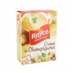 Royco -  minute soup cremeuses soupe instantanee sachet sous etui creme champignon quatre assiettes quatre assiettes par sachet  3036812020681
