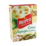Royco -  minute soup cremeuses soupe instantanee sachet sous etui creme d'asperge crouton quatre assiettes quatre assiettes par sachet  3036812020698