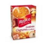 Royco -  minute soup cremeuses soupe instantanee sachet sous etui soupe gratinee a l'oignon quatre assiettes quatre assiettes par sachet  3036812020704